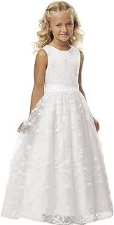 b23a1fd8c48443 Babyonlinedress® Ärmellos Spitze Hochzeit Blumenmädchenkleider Kinderkleid  Festlich Kommunionkleid