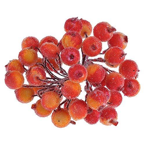 HuntGold Künstliche Beeren Kunstobst Beeren Zweig Kranz Dekor Wie Echt Orange