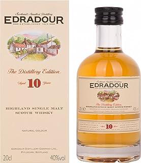 Edradour 10 Jahre Highland Single Malt   Whisky   1x0.2L   Schottland   Reifung in Sherry-Fässern   Aus der legendären Edradour Destillerie   Mild