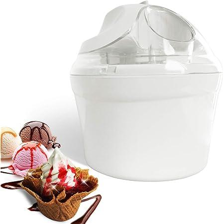 Leogreen - Sorbetière électrique 1.4 L Machine à Glace Sorbetière pour Crème Glacée, Sorbet et Yaourt Glacé, Machine à crème glacée sans BPA, Facile à Utiliser, Fabriqué en 15-30 Minutes