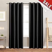 faux silk black curtains