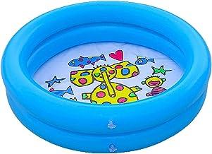 Bodhi2000 Niños Piscina Accesorios Portátil Durable Hogar Al Aire Libre Piscina Inflable Espesar Estallar Piscina redonda PVC para Niños Bebé Niño Azul