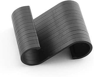 JCBIZ 12pcs Black Space Aluminum S Hook Flat S Shape Bathroom Kitchen Railing S Hanger Multi-Purpose Spoon Pan Pot Towel Cloths etc. Accessories Hangers Fit for Below 19mm Round Rod