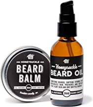 product image for Beard Balm + Beard Oil Pump Set - Honeysuckle - All Natural, Hand Crafted in USA