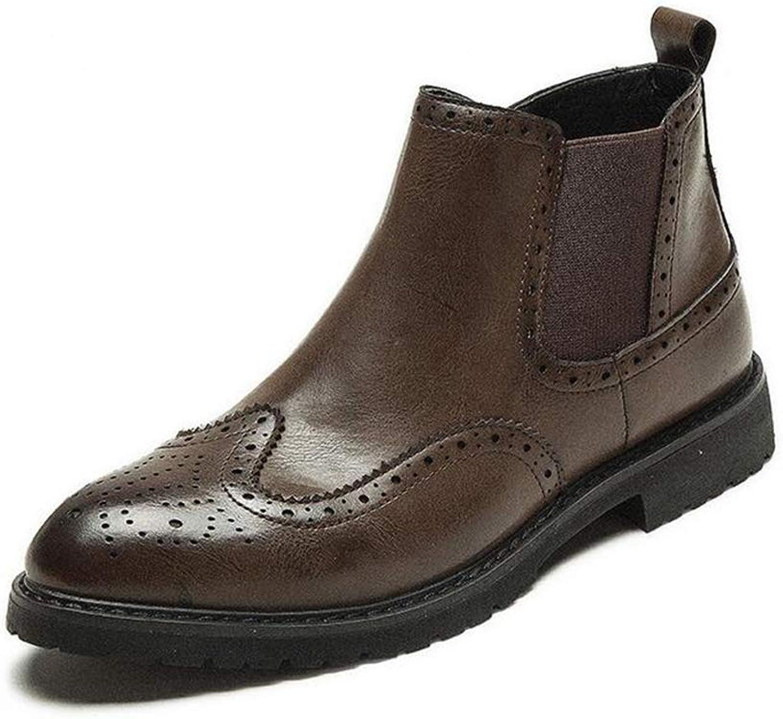 Hy Hy Hy Formelle Schuhe der Männer, künstliche PU Herbst Winter wies Persönlichkeit Business Schuhe Komfort Fahren Schuhe Trekking Wanderschuhe (Farbe   Braun, Größe   48)  569db5