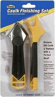 2 Piece Caulk Kit, Yellow/Black, Contains Caulk Remover and Caulk Finisher, Caulk Tool Kit