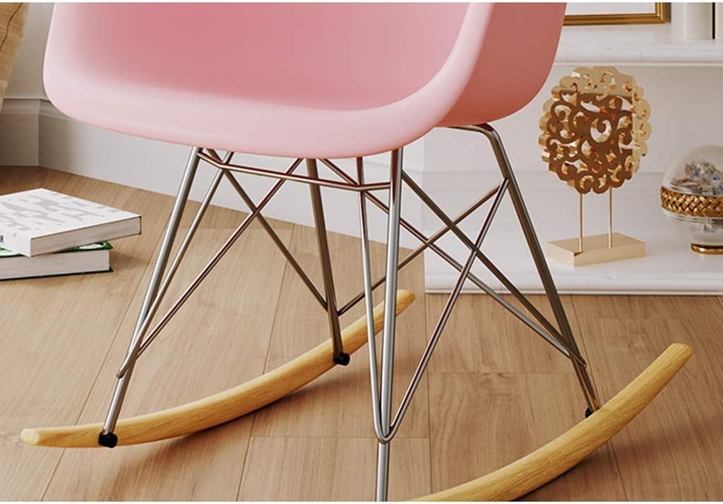 LF Chaise de Salle, Chaise de Bureau Simple, créative Dossier, Chaise Loisirs, Maison Adulte Chaise de Salle Simple (Color : White) Pink