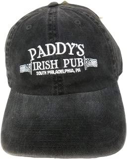 Ripple Junction It's Always Sunny in Philadelphia Adult Unisex Patty's Pub Pigment Dye Dad Hat Black