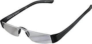 Porsche Design +2.50 Lightweight Reading Tool Model P'8801 ~ Titan/Black Color Frame with Anti-Reflection coated lenses - Can be folded extremely flat to fit into breast pocket. +2.50 Dioptre Lenses