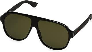 Urban Oversized Sunglasses, Lens-59 Bridge-11 Temple-145, Black / Green / Black