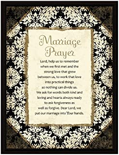 Dexsa Marriage Prayer Wood Frame Plaque with Easel