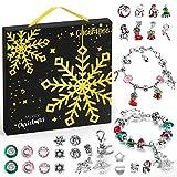 Cheer4bee Schmuck Adventskalender 2020, 24 Überraschungen Armband Kit, Halsketten, Schlüsselanhänger, Charms, Weihnachtskalender für Mädchen