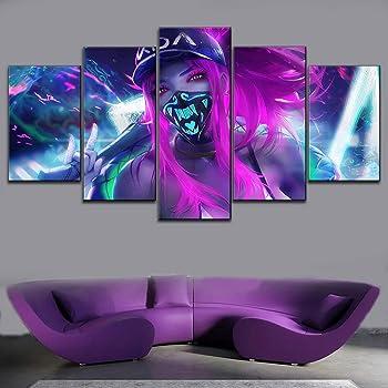 Amazon Com Tyg Canvas Print Wall Art League Of Legends Kda Akali
