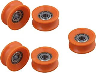 U Groove Roller Wheel Bearing Roller Wheel U Type Groove Pulley U Groove Sliding Wheel 5pcs 6x30x13mm Plastic Coated Sealed Bearings Steel 608ZZ