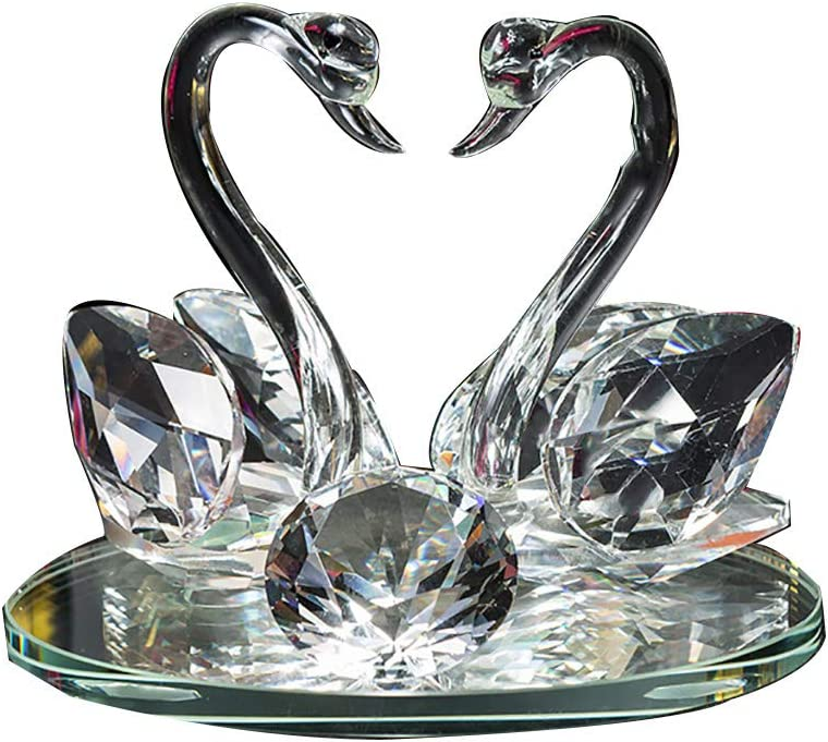 Looking Max 51% OFF back is the shore Glass Trust Cabinet swan Gir Home TV Crystal