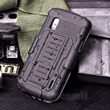 Cocomii Robot Armor LG Nexus 4 Case New [Heavy Duty] Premium Belt Clip Holster Kickstand Shockproof Hard Bumper Shell [Military Defender] Full Body Dual Layer Rugged Cover for LG Nexus 4 (R.Black)
