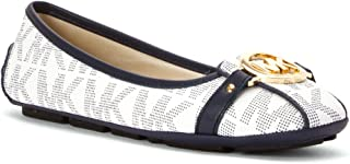 Womens Fulton Faux Leather Embellished Ballet Flats