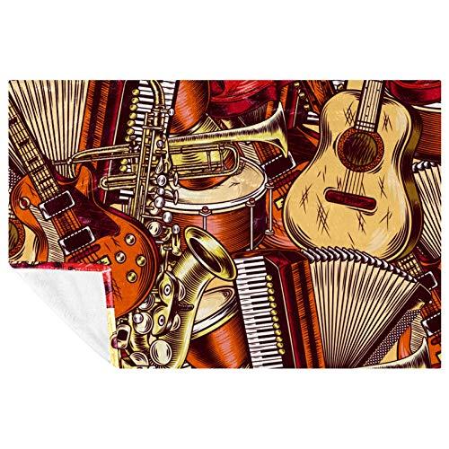BestIdeas - Coperta morbida e calda per fisarmonica, per letto, divano, picnic, campeggio, spiaggia, 150 x 100 cm