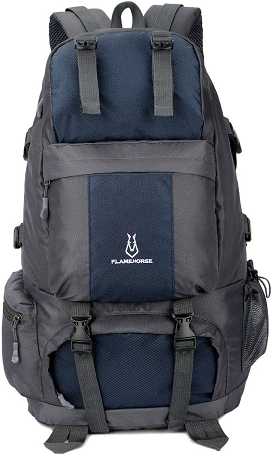 Mountaineering Bag Outdoor Unisex Backpack -50l Large-Capacity Travel Backpack Waterproof Nylon 8 color