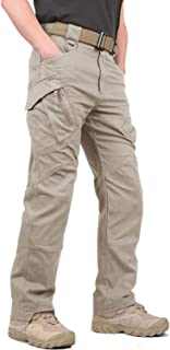 KEFITEVD Casual Tactical Pants for Men Outdoor Military Cargo Trouser Multi Pockets Combat Work Pants