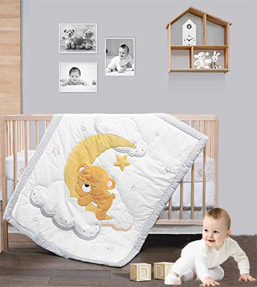 Mama Opening large release sale Ana - Cotton Crib Bedding depot Set and Girls Boys Baby 3-Pi for
