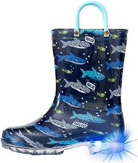 Sponsored Ad - Hugrain Light Up Rain Boots for Little Kids