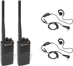 2 Pack of Motorola RDV5100 Radios with 2 Push To Talk (PTT) earpieces.