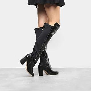 7a17d6943 Bota Couro Over The Knee Shoestock Neoprene Feminina