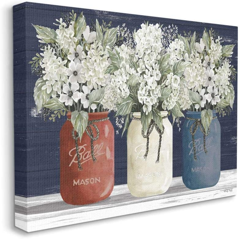Stupell Industries Americana Floral Bouquets Rustic Flowers Country Pride, Designed by Cindy Jacobs Wall Art, 24 x 30, Canvas