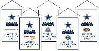 Winning Streak NFL Dallas Cowboys Unisex Dallas Cowboys Rafter Banner Replica PackDallas Cowboys Rafter Banner Replica Pack, Navy, Banner