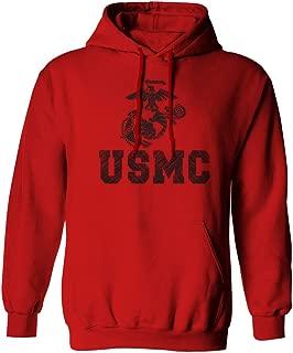USMC Marine Corps Big Logo Black Seal United States of America USA American Hoodie