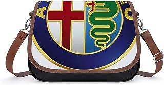 Lionel Philip PU Leather Bag Cross Body Bag Shoulder Handbag Women Alfa Romeo Logo Crossbody Shoulder PU Bag For Ladies