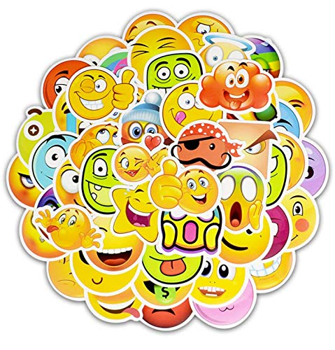 Trolley Case Stickers Emoji Packs Graffiti Stickers Trend Personalized Computer Notebook Skateboard Guitar Car Stickers Anti-50 Sheets