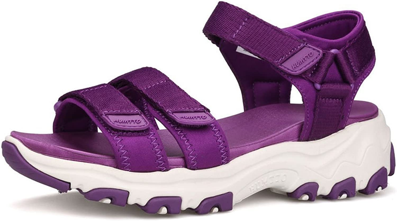 Sunjcs Women's Outdoor Athletic Sandals Three Strap Sport Beach Hiking Walking River Sandal