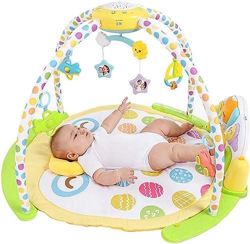 Baby Activity Gym - Spielmatte Fitness Learning Kissen Funtiere, Musik, Texturen, Discovery Teppich Für 0-18 Monate Neugeborenes Baby