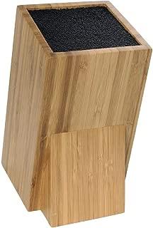 10,8/x 10,8/x 23/cm Pradel Excellence kw03/Blocco Rotondo per coltelli da Cucina Tutto Tipo di Lama in Ferro Acciaio Giallo