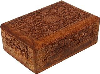 CRAFKART Wood Art Celtic Box - Handmade Unmatched Quality - Unique Ractangular Keepsake Box - Original Wood Work Art - Celtic Gift, Ring, Trinket Wood Jewelry Box