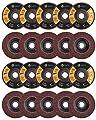 "20 Pack Flap Discs 4.5"" x 7/8"" Grinding Wheel T27 Flapper Wheel for Die Angle Grinder Attachments 40/60/80/120 Grit Sanding Discs Aluminum Oxide Abrasive"