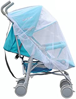 Gyswshh Universal Infants Baby Stroller Pushchair Cart Mosquito Insect Net Safe Mesh White