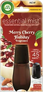Air Wick Essential Oils Diffuser Mist Refill, Merry Cherry Holiday, 1 Count
