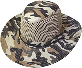 EORTA 2 Pack Men Camouflage Hats with Wide Full Brim Breathable Mesh Design Summer Sunhats/Cups for Outdoor Working Fishin...