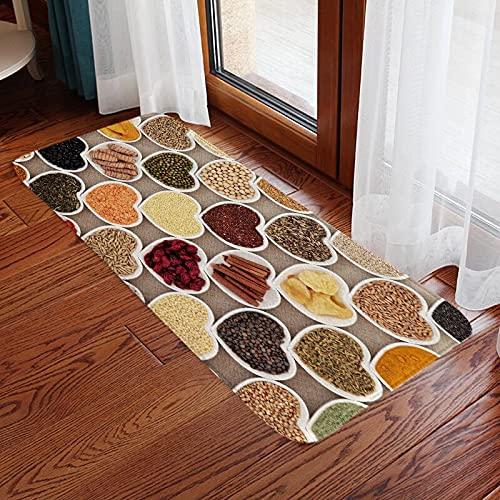 HLXX Patrón de impresión de Frutas Alfombra de Puerta de Entrada de Cocina Alfombra Antideslizante Alfombra de baño Área de baño Pasillo Alfombra de Piso Lavable A2 50x160cm