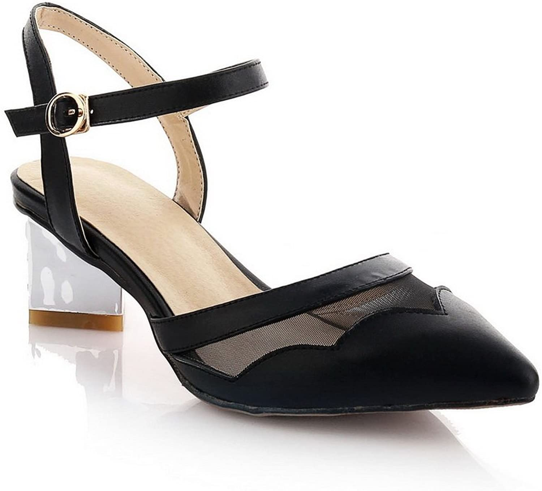 AdeeSu Womens Pointed-Toe Unique Platform Leather Pumps shoes