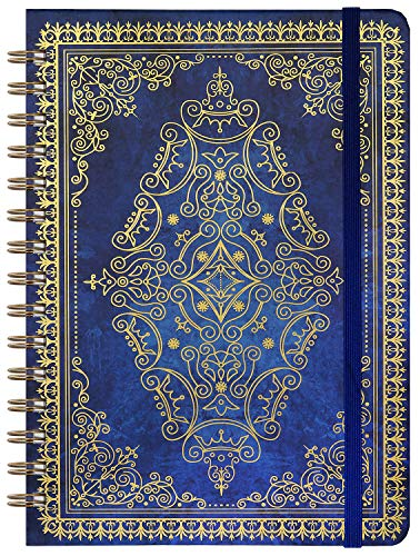 """2021-2022 Planner - Weekly & Monthly Planner with Monthly Tabs, July 2021 - June 2022, 6.3"""" x 8.4"""", Hardcover Leather with Thick Paper, Inner Pocket, Retro Blue"""