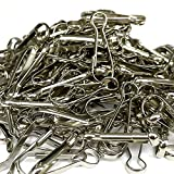 50pcs SIEWAY 1.26 In Premium Durable Metal Lanyard Clips Key Chain, Lanyard Clasp Hooks Heavy Duty, Purse Snap Hook Hanging Key Ring, Small Lanyard Zipper Pull Spring String Hook for Crafts, ID Badges
