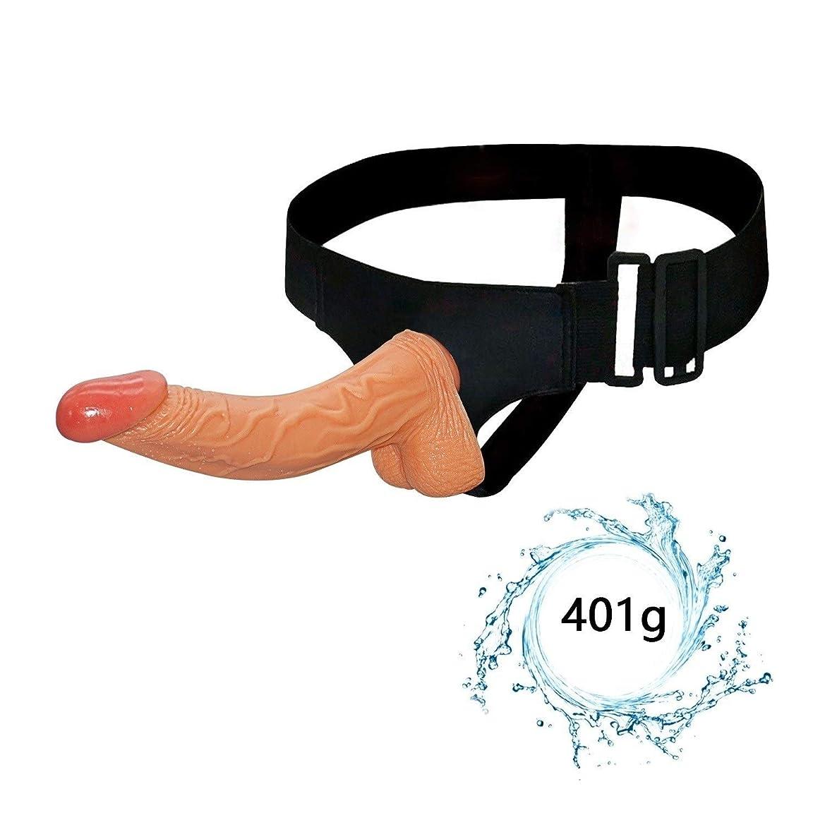 追加するアテンダント振り子マッサージ、ハンドフリーマッサージツール9インチ防水両面ボディマッサージのおもちゃ男性の代替パンツシリコーンディド