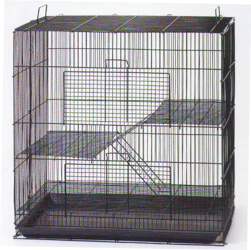 Mcage New 3 Levels Ferret Chinchilla Sugar Glider Rats Animal Cage 24' L x 16' W x 24' H with Tight 3/8-Inch Bar Spacing