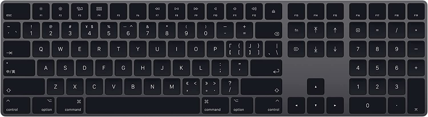 Apple Magic Keyboard with Numeric Keypad (Wireless, Rechargable) (Chinese- Pinyin) - Space Gray