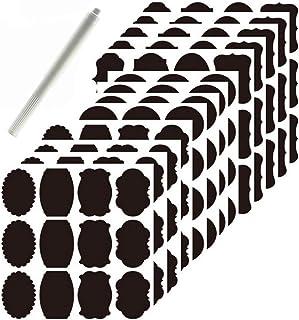 Chalkboard Kitchen Ingredients Item Labels Stickers Multi-Purpose Bulk Set (156 PCS) - FREE Chalkboard White Marker Pen - Waterproof Dishwasher Safe - Sticker Labels for Jars Glass Bottles Containers