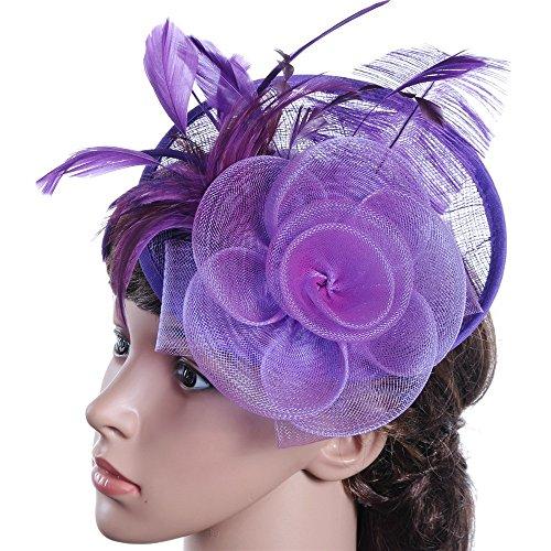 Chapeau Fascinant Femmes Fille Fascinators Pince À Cheveux Épingle À Cheveux Chapeau De Plumes De Cocktail De Mariage Thé De Chapeau De Fête Et Bandeau Pour Les Femmes Pince à Cheveux de Mariée